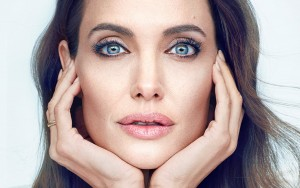 Angelina Jolie widescreen face
