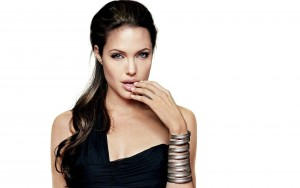 Angelina Jolie white background wallpaper for PC