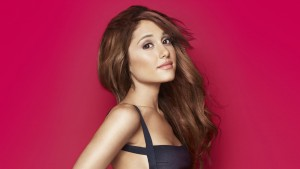 Ariana Grande red background High Definition wallpaper