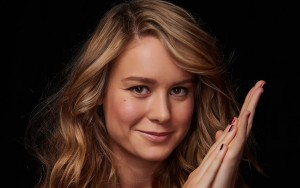 Brie Larson background black cute face