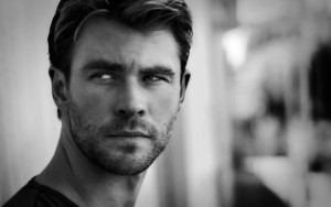 Wallpaper Chris Hemsworth black and white background photos