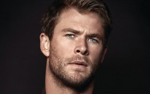 wallpaper Chris Hemsworth face black background 2016 full HD image