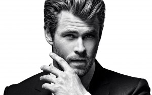 Wallpapers Chris Hemsworth face bw picture High Quality