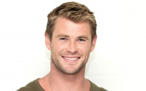wallpaper Chris Hemsworth smile white background High Definition image
