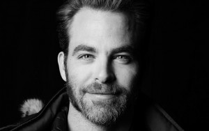 Chris Pine bw picture High Resolution