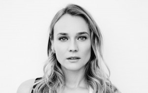 Diane Kruger for Desktop black and white background