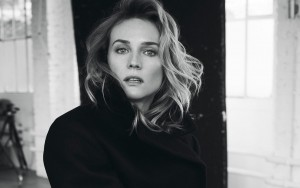 Diane Kruger High Resolution picture black-white