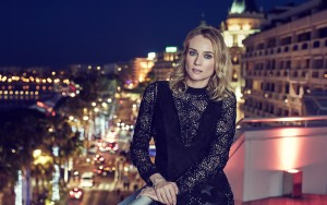 Diane Kruger dressed in an evening dress