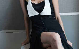 Diane Kruger in black white dress 2016 picture