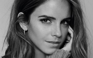 Emma Watson black and white wallpaper HD 1080p