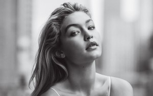 Gigi Hadid black and white High Resolution wallpaper