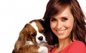 Jennifer Love Hewitt with puppy Desktop wallpapers