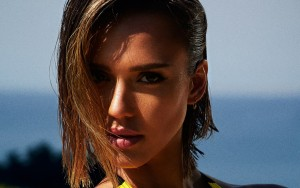 Jessica Alba face Desktop Wallpaper Widescreen