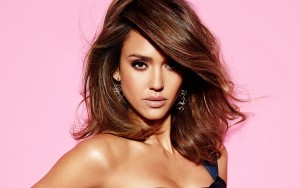 Jessica Alba pink background picture