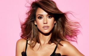 Jessica Alba pink background 1080p wallpaper