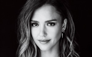 Jessica Alba black wallpaper for desktop bw face