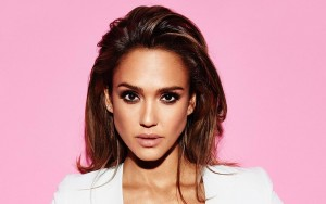 Jessica Alba pink background widescreen