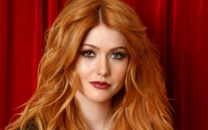 Katherine Mcnamara red wallpaper HD 1080p