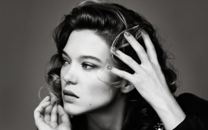 Lea Seydoux High Resolution wallpaper bw