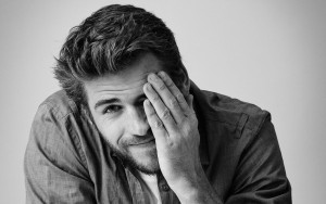 Liam Hemsworth black and white background High Quality wallpapers