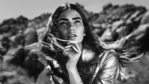 Awesome Lily Aldridge bw pictures gallery