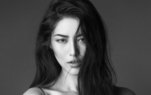 Liu Wen black wallpaper HD 1080p bw pretty face