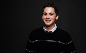 Logan Lerman happy HD image
