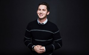 Logan Lerman smile High Resolution wallpaper
