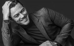 Luke Evans smiling picture High Resolution