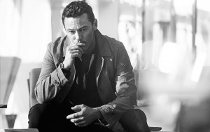 Luke Evans thoughtful Desktop Wallpaper Widescreen