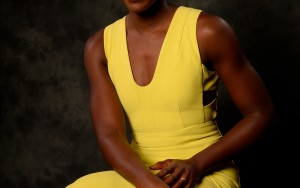 Lupita Nyong'o yellow dress wallpaper High Definition