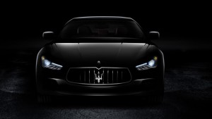 Maserati Granturismo black background HD wallpapers for Desktop