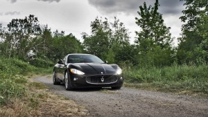 Maserati Granturismo black nature HD images download