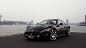 Maserati Granturismo black tiver High Resolution wallpaper