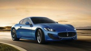 Maserati Granturismo blue wallpaper for desktop