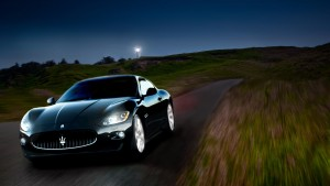 Maserati Granturismo night High Definition wallpaper
