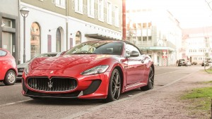 Maserati Granturismo red widescreen