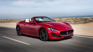 Maserati Granturismo red cabrio Desktop wallpaper