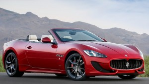 Maserati Granturismo red convertible wallpapers backgrounds