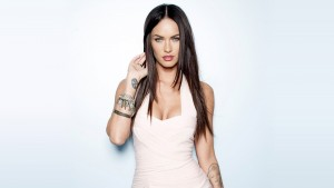 Megan Fox wallpaper pics, blue background