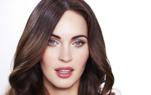 Megan Fox face wallpaper white background