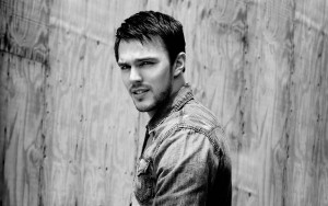 Nicholas Hoult black and white HD wallpaper
