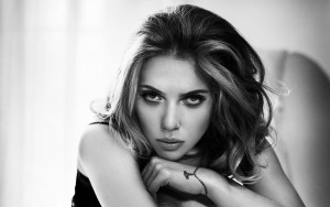 Scarlett Johansson black and white HD wallpapers for Desktop