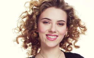 Scarlett Johansson High Resolution wallpaper curly hair