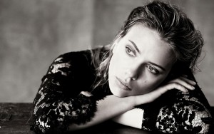 Scarlett Johansson bw wallpaper 1080p High Definition cute face