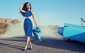 Selena Gomez blue wallpapers High Quality