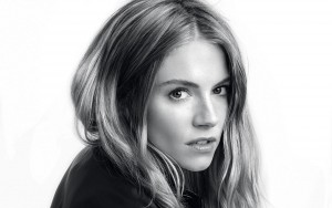 Sienna Miller bw High Resolution wallpaper
