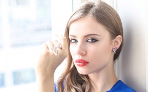 Xenia Tchoumitcheva High Resolution wallpaper red lips
