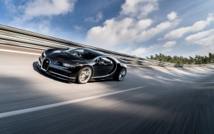 black 2017 Bugatti Chiron HD wallpapers