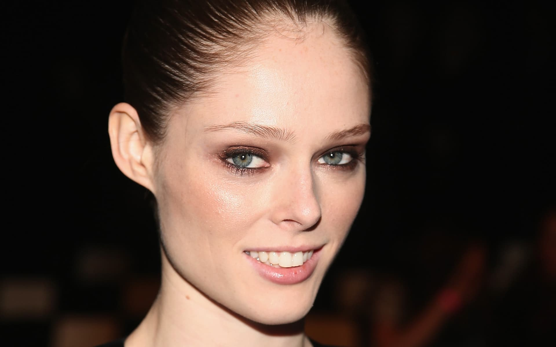 Coco Rocha smile wallpapers backgrounds